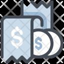 Bill Coin Sale Icon