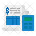 Bill Receipt Invoice Document Financial Receipt Icon