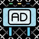 Billboard Advertising Advertisement Icon