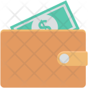 Billfold Wallet Paper Icon