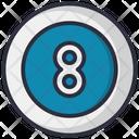Billiard Ball Game Icon