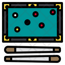 Billiard Player Entertainment Icon