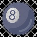 Billiard Ball Cue Sports Pool Ball Icon