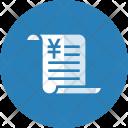 Billing Data Yen Icon