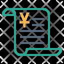 Billing Data Yuan Icon