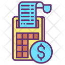 Bills Concept Billing Machine Invoice Machine Icon