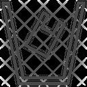 Bin Garbage Plastic Icon