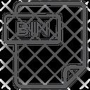 Bin File Document File Icon