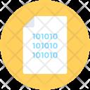 Binary Sheet Data Icon