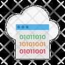 Cloud Binary Coding Binary Coding Icon