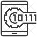 Binary Code Technology Icon