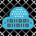 Binary Digital Cloud Icon
