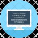 Binary Screen Numeric Icon