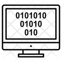 Binary Analysis Binary Processed Monitor Icon