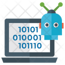 Binary Code Robotic Technology Computer Code Icon