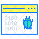 Binary Binary Code Bug Icon
