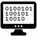 Binary Code Computer Code Abstract Technology Icon