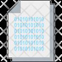 Binary Code Binary Data Management Icon