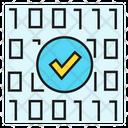 Binary Code Secured Icon