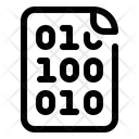 Binary Code Document Icon