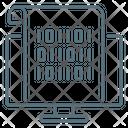 Binary Code Code Coding Icon