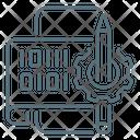 Binary Code Gear Pencil Icon