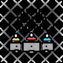 Binary Code Coding Teamwork Icon