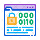 Binary Code Protection Icon