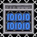 Coding Binary Web Icon