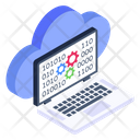 Cloud Coding Storage Coding Cloud Networking Icon