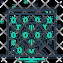 Binary Data Search Symbol Icon
