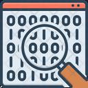 Binary Data Search Symbol Analytics Coding Icon