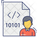 Binary Developer Binary Programmer Binary Code File Icon