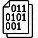 Binary Document Code Note Icon