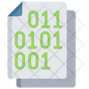 Binary Document Code Note Icon