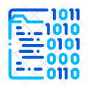 Binary File Coding Icon