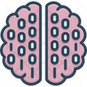 Binary Mind Processor Brain Icon