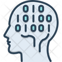 Binary Mind Hardware Chip Icon