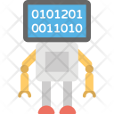 Binary Robot Signal Icon