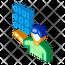 Human Binary Code Icon