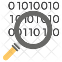 Binary Search Coding Research Database Search Icon