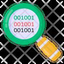 Binary Analysis Binary Search Binary Evaluation Icon