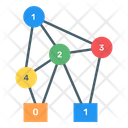 Binary Decision Diagram Binary Tree Connected Chart Icon