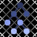 Binary tree diagram Icon