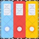 Binders Documents Folders Icon