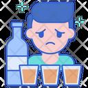 Binge Drinking Icon