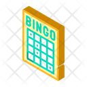 Bingo Card Isometric Icon