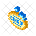 Bingo Game Isometric Icon