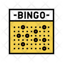 Bingo Game Color Icon