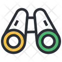 Binocular Discovery Magnifying Icon